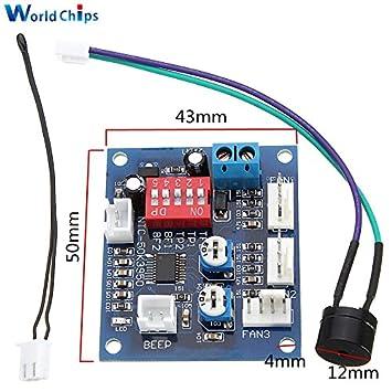 DC 12V 5A PWM PC Fan Temperature Speed Controller Module CPU High
