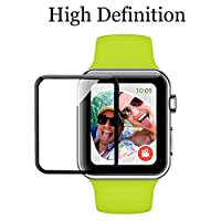 Apple Watch Screen Protector 42mm for Series 3 /2/1 Scratch Resistant Full Coverage Protective Tempered Glass HD Film Glass Bumper Case with 3D Curved Edge iwatch Anti-Bubble Clear Cover Accessories from Konglin