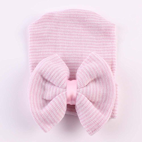 [AP Shop, Newborn Beanie Hat, Infant Girl Toddler Comfy Bowknot Hospital Cap Warm. (Pink)] (Turban And Beard Costume)