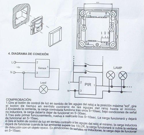 SENSOR INTERRUPTOR DETECTOR INFRAROJOS DE MOVIMIENTOS PARA PARED 05S-FL230: Amazon.es: Electrónica