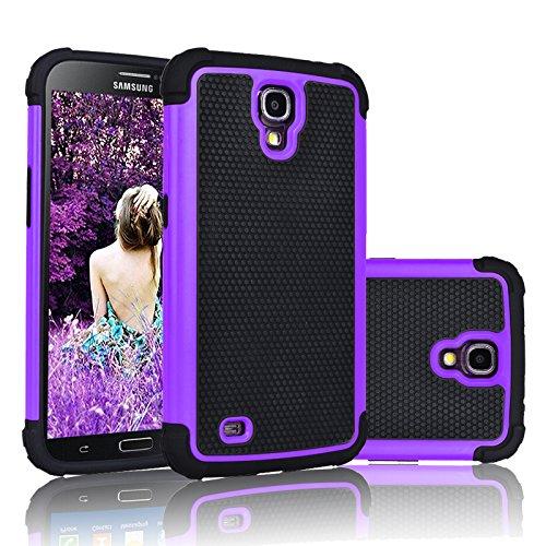 Galaxy Mega 6.3 Case, Njjex [Nveins] Shock Absorbing Hybrid Dual Layer Rubber Plastic Impact Armor Defender Bumper Rugged Hard Case Cover Shell For Samsung Galaxy Mega 6.3 i9200/i9205/i527 [Purple]