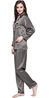 5fb76ab791 LilySilk Silk Pajamas for Women Pure Full Length Long 22 Momme 100% Mulberry  Silk Luxury