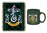 Harry Potter Slytherin Coffee Mug & Throw Blanket Bundle Set