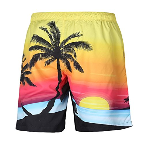 - iOPQO Shorts for Men, Fashion Summer Casual Plus Size Print Beach Shorts Pants