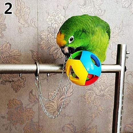 Bbl345dLlo Mascota Pájaro Colorido Masticar Swing Juguete, Cute ...