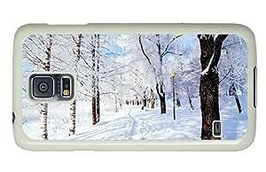 Hipster Samsung Galaxy S5 Cases designer Park Snow PC White for Samsung S5