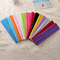 Zapire 14pcs Mixed Colors Yoga Sports Headbands for Women - Soft Elastic Stretch Girls Athletic Headbands by Zapire