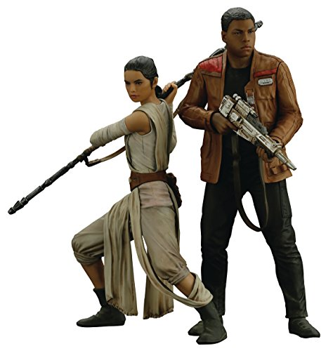 Kotobukiya Star Wars Force Awakens Rey & Finn Artfx Statue Set Action Figure