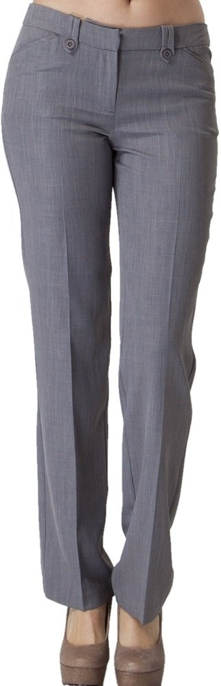 Vitamina USA Buttoned Slim Fit Dress Pants #2576 (M, Gry)