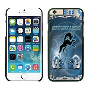 Detroit Lions iPhone 6 Cases 34 Black 4.7 inches-[Non-Slip] [Exact-Fit] Lifetime Warranty,easily install with maximum protection,Ultra Fit Hard Case Shock-Absorption Bumper with Anti-Scratch Hard Case for iphone 6