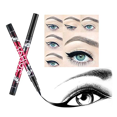 2pcs 36H Black Eyeliner Pencil Long Lasting Waterproof Liquid Eyeliner Pen Natural Eye Liner Makeup