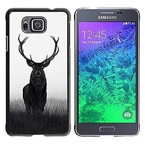 TopCaseStore / la caja del caucho duro de la cubierta de protección de la piel - Hunter Hunting Spring Majestic - Samsung GALAXY ALPHA G850