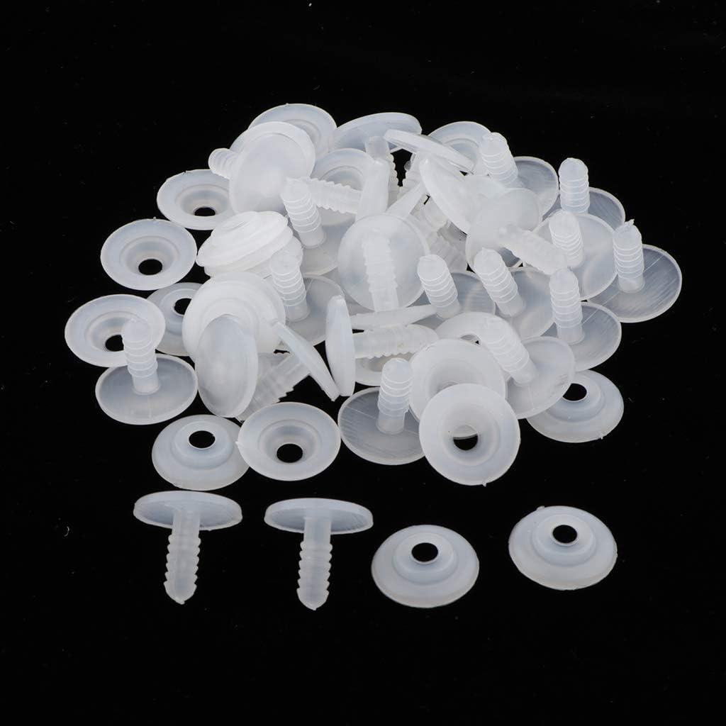 15 mm Hellery 20//30 Satz Wei/ß 15//20 Mm Puppe Spielzeug Zubeh/ör Puppe Skeleton Gelenke F/ür Kind DIY