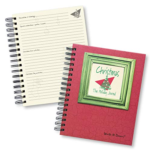 Christmas, The Holiday Journal, 25 Years of Memories Hardcover, RED Color