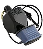 Fox 40 Classic CMG Official Whistle with Break Away Lanyard (Black)