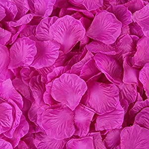 Treely Silky Rose Petals Decoration for Wedding Party, Purple, 1000-Pieces 42