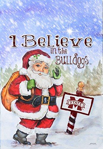 - NCAA Mississippi State Bulldogs Christmas Santa Holiday Garden Flag