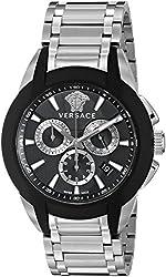 Versace Men's VQN040015 Character Analog Display Quartz Silver Watch