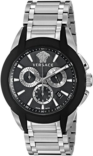 Versace Men's VQN040015 Character Analog Display Quartz Silver Watch