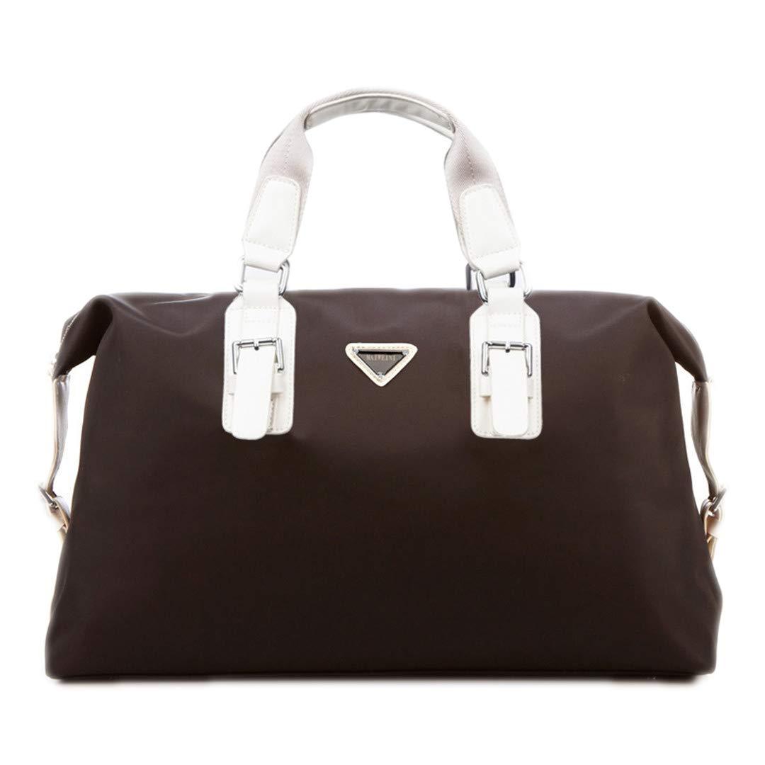 Capacity Nylon Travel Bag Men H Luggage Travel Duffel Bag Casual Multifunctional PU Leather Shoulder Travel Bags Blue Nylon