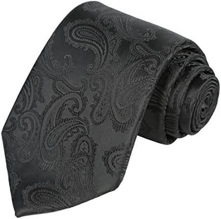 KissTies Mens Necktie Paisley Tie + Gift Box