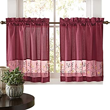 Amazon Com Collections Etc Embroidered Vines Fairfield
