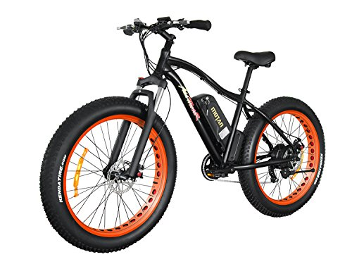 Addmotor MOTAN New Updated Electric Bike M550 48V 500W Bafang Motor 10.4AH Sansung Lithium Battery Electric Mountain Bicycle With Shimano 7 Speeds Fat Tire Suspension Fork