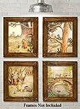 Winnie the Pooh Bear - Set of Four Photos (8x10) Unframed