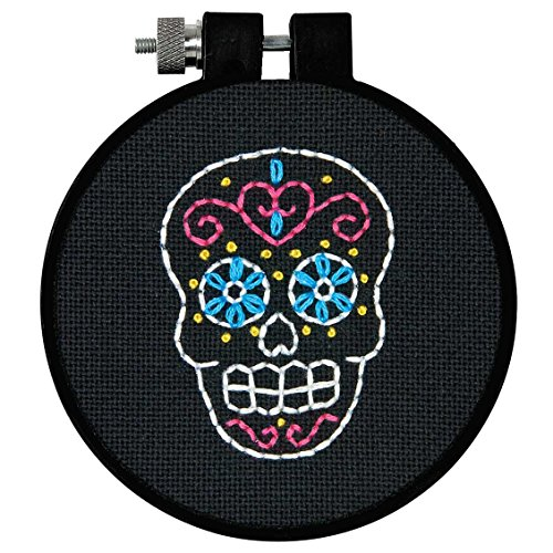 (Learn-A-Craft Sweet Sugar Skull Counted Cross Stitch Kit-3