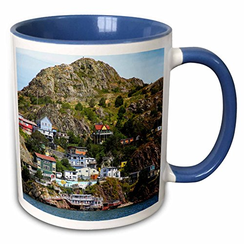 3dRose Danita Delimont - Canada - North America, Canada, The Battery at St. Johns harbor entrance - 15oz Two-Tone Blue Mug (mug_226911_11) ()