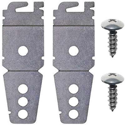 (2 Pack) Undercounter Dishwasher Brackets With Screws - Similar to Whirlpool 8269145 or WP8269145 - Replacement Aftermarket Part