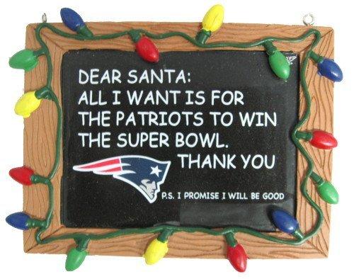 FOCO New England Patriots Resin Chalkboard Sign Ornament