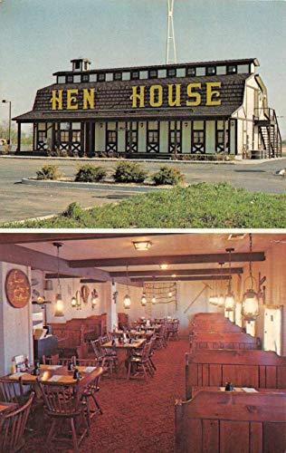 Hen House Interstate Restaurants Interior Exterior Advertising Postcard J81258