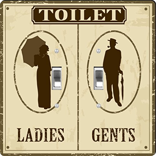 Rikki Knight Toilet Retro Poster Design  - Design Double Toggle Switch Shopping Results