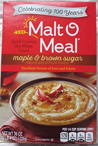 Malt-O-Meal Maple And Brown Sugar - Hot Cereals 36 Ounce