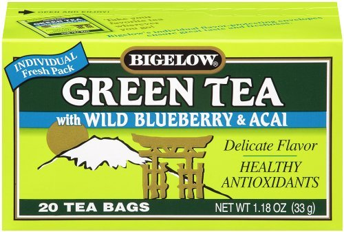 Bigelow Green Tea with Wild Blueberry & Acai 20-count Boxes (Pack of 2) Review