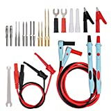 23 Pcs Multimeter Leads Kit Professional and Upgraded Test Leads Set with Replaceable Gold-Plated Multimeter Probes, Alligator Clips, Test Hooks and Back Probe Pins