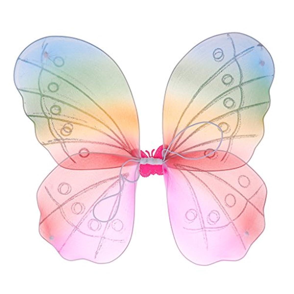[해외] 버터플라이 페어리 윙 소녀 요정접 마리홍색 이어엽 아이의 해피버스데이 파티 장식