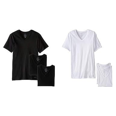V Undershirts Tshirts 3 Neck Slim Pack Calvin Cotton Classics Klein Men's Fit 0knO8wPX