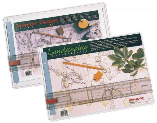 Koh I-noor Interior Design - CHA522130INT - Interior Design Draft Kit, 18-5/8x13-1/8x3/8, White