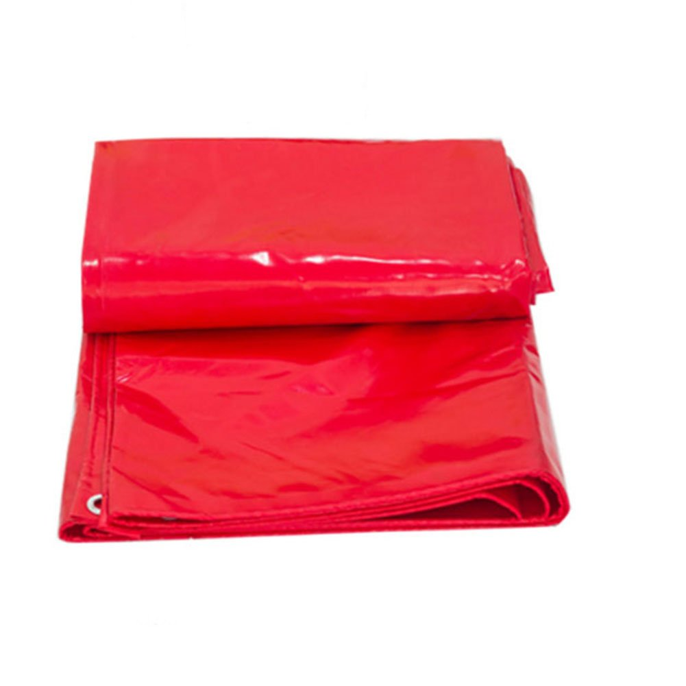 KKCF オーニング ターポリン アンチサン 防水 耐酸性 カーポート ポリ塩化ビニル 厚さ:0.5mm 、180G / M2 、15サイズ (色 : Red, サイズ さいず : 5X6m) B07FX6QNJ4 5X6m|Red Red 5X6m