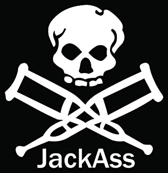 Jackass Logo Stickers
