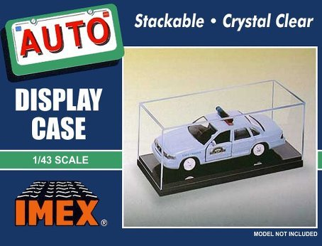 Imex Black Base Display Case for 1/43 Auto or 1/72 (Diecast Display Cabinet)