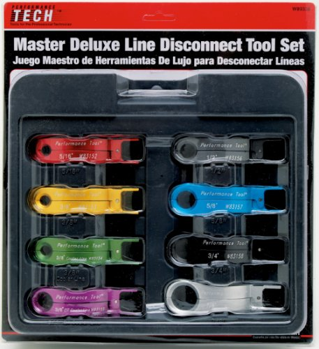 Performance Tool (W89338) 8-Piece Master Line Disconnect Tool Set
