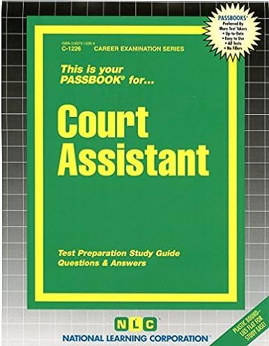court assistant passbooks c1226 jack rudman 9780837312262 rh amazon com Doctors Office Patient Exam Best Office Exam