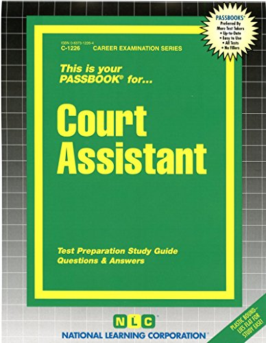Court Assistant(Passbooks) (C1226)