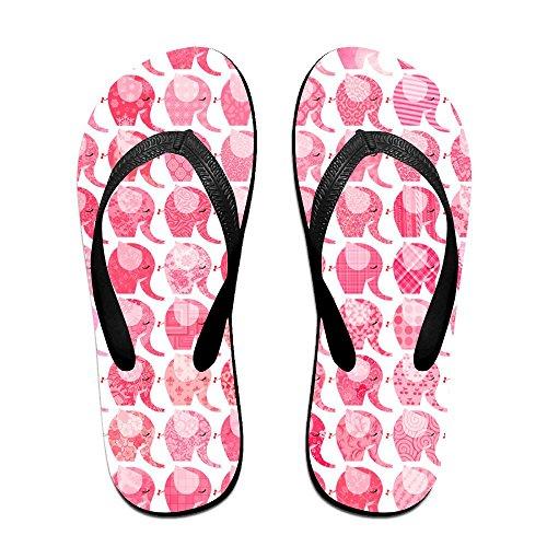 Sandalo Estivo Unisex Rosa Cinturino Infradito Sandali Da Spiaggia Per Donna Uomo Nero