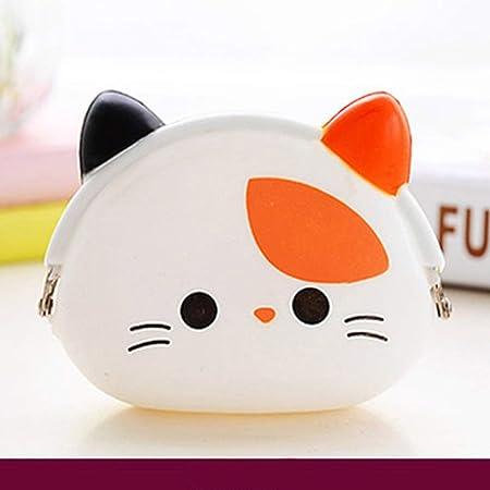 Mini Mignon Petit Dessin Anim/é Chat Chien Panda Silicone Porte-Monnaie Portefeuille Pochette pour Enfants Filles Gar/çons Femmes Party Favor