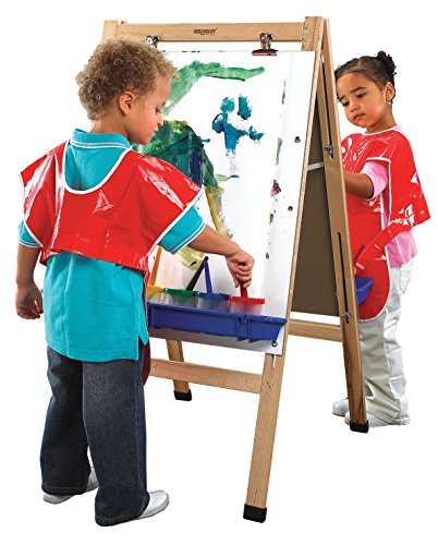 Childcraft Double Adjustable Easel, Dry Erase Panels, 23-3/4 x 44-1/2 ()