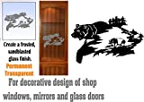 gun cabinet with etched glass - Bear Mountains Hunting DIY Etched Glass Vinyl Decal Gun Cabinet Window Film Privacy Front Door GC255b